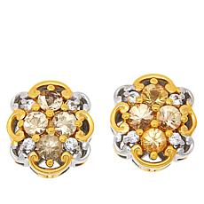 Gems by Michael Imperial Topaz and White Zircon Stud Earrings