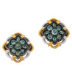 Gems by Michael Sterling Silver Alexandrite Cluster Stud Earrings