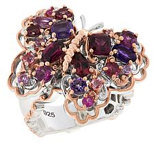 Gems by Michael Sterling Silver Carnival Multigemstone Butterfly Ring