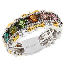 Gems by Michael Sterling Silver Colored Gemstone Band Ring