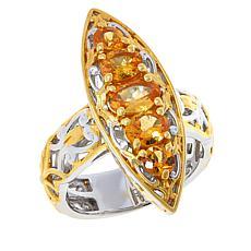 Gems by Michael Sterling Silver Orange Spessarite Garnet Ring