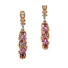 Gems by Michael Sterling Silver Pink Gemstone Drop Earrings
