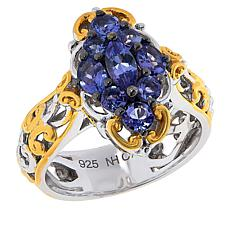 Gems by Michael Sterling Silver Tanzanite Cluster Ring