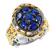 Gems by Michael Valitutti Blue Spinel Diamond-Accented Ring