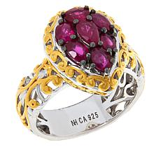 Gems by Michael Valitutti Burmese Ruby Cluster Ring