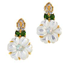 Gems by Michael Valitutti Mother-of-Pearl and Gemstone Drop Earrings
