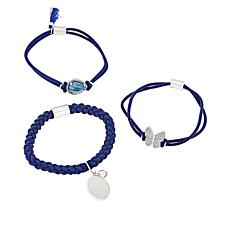 "Gemtye ""Butterfly"" 3-piece Blue Bracelets/Hair Ties"