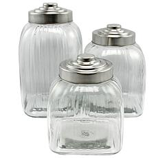 General Store Lake House 3 pc Canister Set W/Stainless Steel Lid
