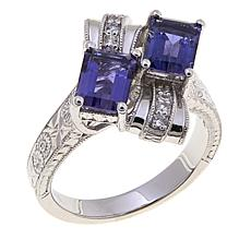 Generation 1912® 1.57ctw Iolite and White Zircon Ring