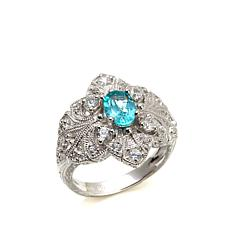 Generations® 1912 - 1.79ctw Paraiba Blue-Color Apatite &  Zircon Ring