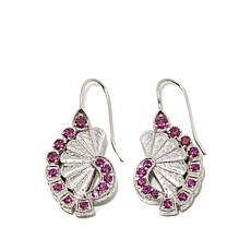 "Generations® 1912 - 1.84ctw Rhodolite ""Fan"" Earrings"