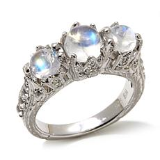 Generations® 1912 Blue Moonstone and White Zircon Tiara  Ring
