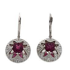 Generations® 1912 Raspberry Fluorite Drop Earrings