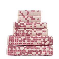 Geo Turkish Cotton 6-piece Towel Set