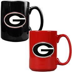 Georgia Bulldogs 2pc Coffee Mug Set