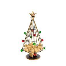 "Gerson 14"" Tall Metal Holiday Wine Cork Holder Tree"