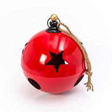 "Gerson 18.75""H Jumbo Hanging Red Metal Jingle Bell"