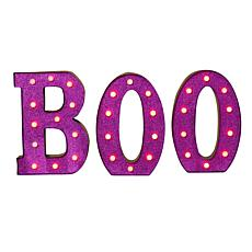 """Gerson 3-piece 14"""" Lighted BOO Sign"""