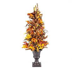 "Gerson 46""H Harvest Tree w/Pumpkins, Pinecones & Berries w/50 Lights"