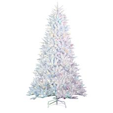 Gerson 7.5' LED Lighted White Parkview Pine Tree