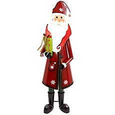 "Gerson 76.5"" Metal Santa Holiday Decor"