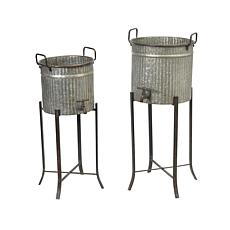 Gerson Classic Beverage Server Plant Holders w/Stands 2-pack