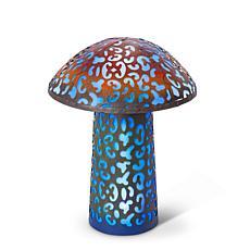 "Gerson Company 17.5"" Solar Lighted Garden Meadow Mushroom"