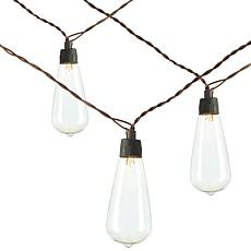 """Gerson Company 18.6""""L Solar Patio Light Strings 2-pack"""