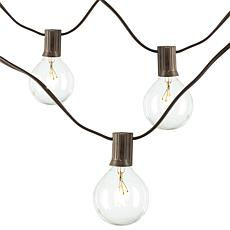 Gerson Company 20'L Patio Light Strings with 20 Bulbs 2-Pack