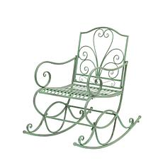 "Gerson Company 35.8""H Antique Green Metal Rocking Chair"