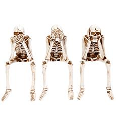 """Gerson Company 8.1""""H Skeleton Shelf Sitters 3-Pack"""