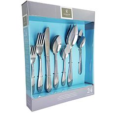 Gibson Biviere 24 Piece Flatware Set