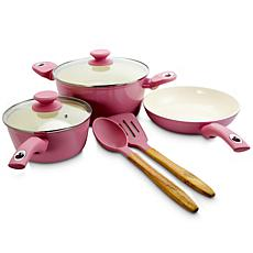 Gibson Coffee House Plaza Café 7-piece Cookware Set in Lavender
