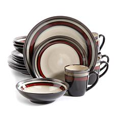 Gibson Elite Lawson 16-piece Dinnerware Set - Red