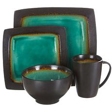 Gibson Elite Ocean Paradise 16pc Square Dinnerware Set