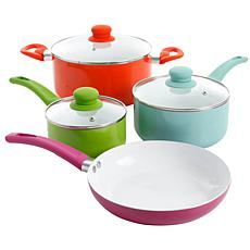 Gibson Home 7-piece Assorted Aluminum Multicolored Cookware