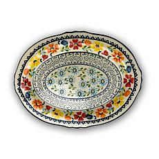 "Gibson Home Central Station 14"" Oval Serving Platter"