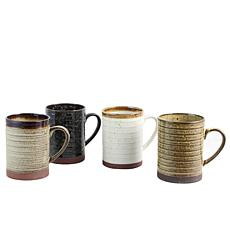Gibson Home Earth and Sky 4-piece 18.5 oz Mug Set in Assorted Colors