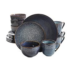 Gibson Home Elite Marrylue 16-piece Dinnerware Set in Cobalt