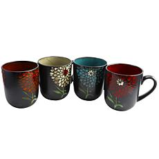 Gibson Home Gardenia Café 4-piece 16 oz. Assorted Mug Set