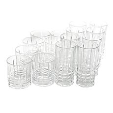 Gibson Home Glowing Ambers 16pc Tumbler and Old Fashioned Glass Set