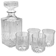 Gibson Home Glowing Ambers 5-piece Glass Decanter Set