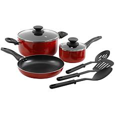 Gibson Home Palmer 8-piece Cookware Set in Red