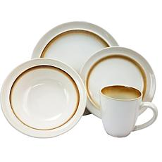 Gibson Lawson 16pc Dinnerware Set - Brown