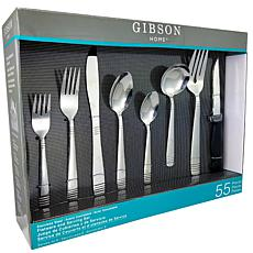Gibson Palmore Plus 55 Piece Flatware Set
