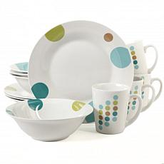 Gibson Retro Specks 12-piece Dinnerware Set