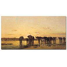 "Giclee Print - African Elephants 47"" x 24"""