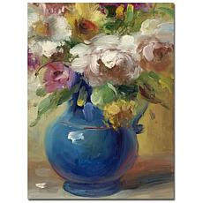 """Giclee Print - Flowers in a Blue Vase 24"""" x 32"""""""