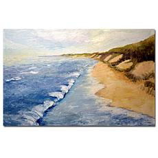 Giclee Print - Lake Michigan Beach with Whitecaps 35x47