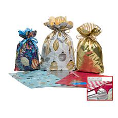 GiftMate 12-Piece Scallop Gift Bags with Gift Tags